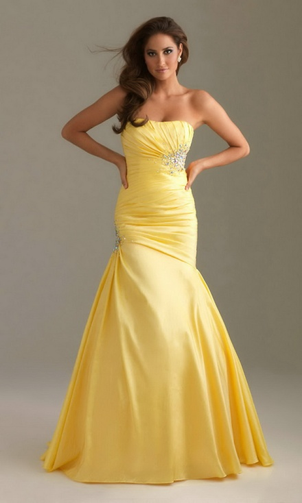 hot 2012 yellow dress for young girls  my dream prom